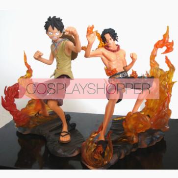 2-Piece One Piece Mini PVC Action Figure Set - A