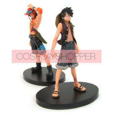 2-Piece One Piece Mini PVC Action Figure Set - B