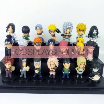 21-Piece Naruto Mini PVC Action Figure Set