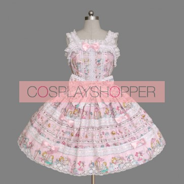 Lovely Sleeveless Bows Bandage Sweet Lolita Dress