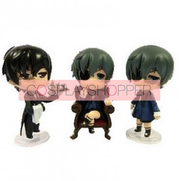 3-Piece Black Butler Mini PVC Action Figure Set