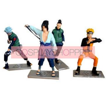 4-Piece Naruto Mini PVC Action Figure Set