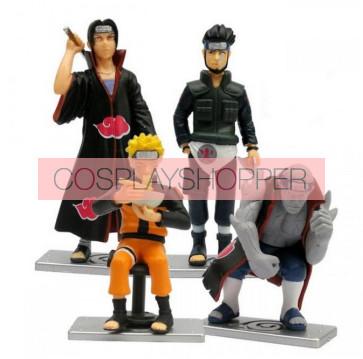 4-Piece Naruto Mini PVC Action Figure Set - C