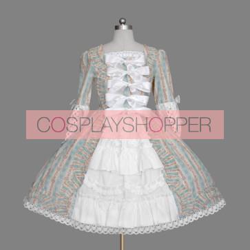 Cute Long Sleeves Bows Cotton Gothic Lolita Dress