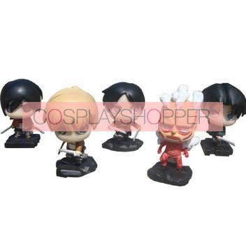 5-Piece Attack On Titan PVC Action Figure Set