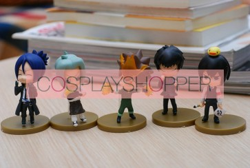 5-Piece Katekyo Hitman Reborn Mini PVC Action Figure Set - E