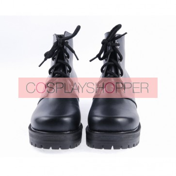 "Black 3.1"" High Heel Classical Patent Leather Lace Tie Platform Girls Lolita Shoes"
