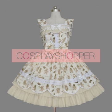 Cute Sleeveless Bow Bandage Sweet Lolita Dress