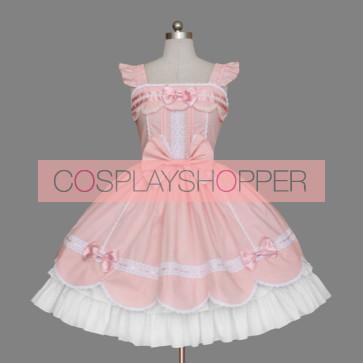 Pink Layered Ruffles Bandage Cute Sweet Lolita Dress