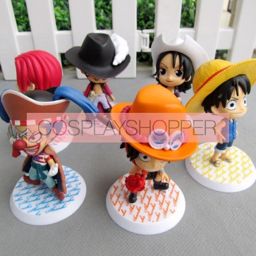 6-Piece One Piece Mini PVC Action Figure Set - A