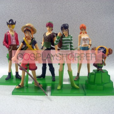 6-Piece One Piece Mini PVC Action Figure Set - B