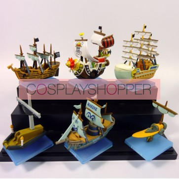 6-Piece One Piece Mini PVC Action Figure Set - C