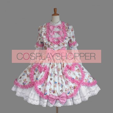 Pink And White Bows Cute Sweet Lolita Dress