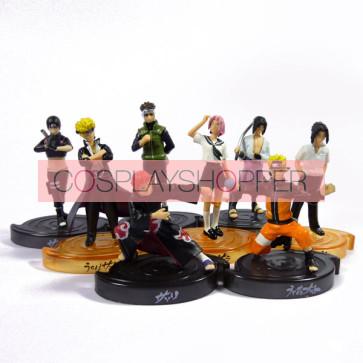 8-Piece Naruto Mini PVC Action Figure Set