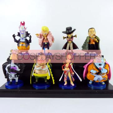 8-Piece One Piece Mini PVC Action Figure Set