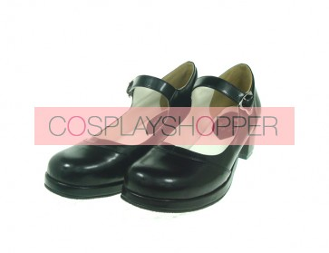 "Black 1.8"" Heel High Adorable Synthetic Leather Point Toe Cross Straps Platform Women Lolita Shoes"