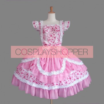 Pink Bows Lovely Sweet Lolita Dress