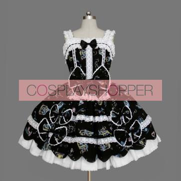 Black And White Sleeveless Cute Sweet Lolita Dress