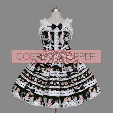 Lovely Sleeveless Bows Bandage Cotton Sweet Lolita Dress