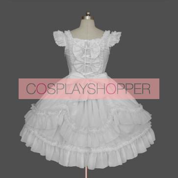 White Sleeveless Stylish Cotton Sweet Lolita Dress