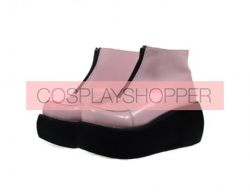 "Pink 3.1"" Heel High Lovely Polyurethane Round Toe Ankle Straps Platform Lady Lolita Shoes"