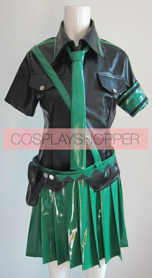 Vocaloid 2 Love is War Hatsune Miku Green Cosplay Costume
