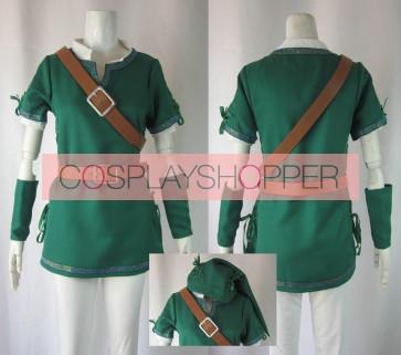 The Legend of Zelda Link Green Cosplay Costume