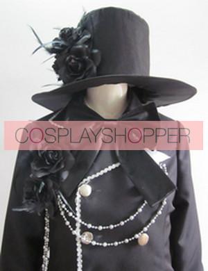 Kuroshitsuji Black Butler Ciel Phantomhive Black Cosplay Costume