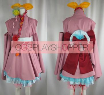 Macross Frontier Ranka Lee Cosplay Kimono Dress