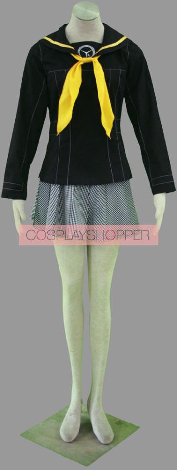 Persona 4 Chie Satonaka Girl School Uniform Cosplay Costume