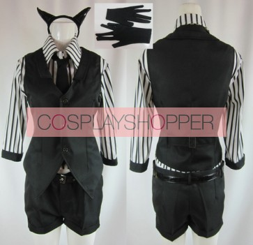 Vocaloid Poker Face Gumi Cosplay Costume