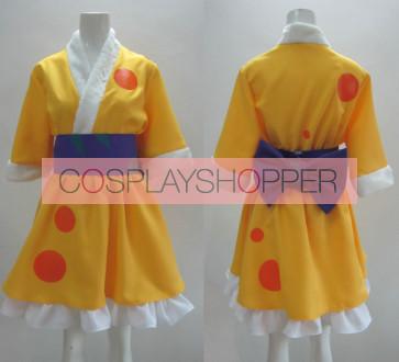 K-ON! Ritsu Tainaka Yellow Kimono Cosplay Costume
