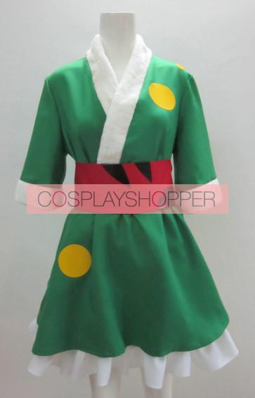 K-ON! Tsumugi Kotobuki Green Kimono Cosplay Costume