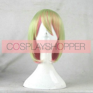 Green and Pink 30cm No Game No Life Tet Cosplay Wig