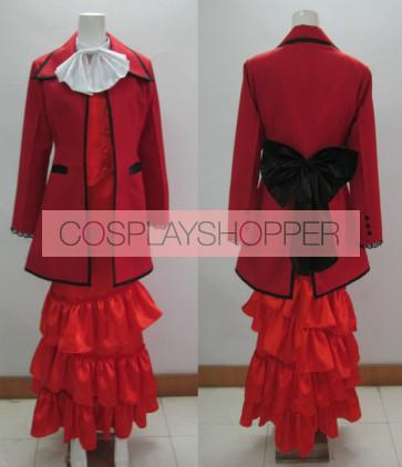 Kuroshitsuji Black Butler Madam Red Angelina Dalles Cosplay Costume
