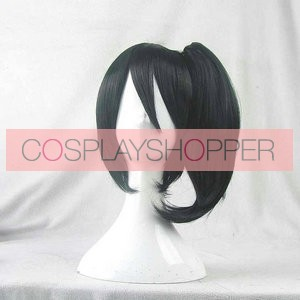 Black 30cm Kantai Collection Kaga Cosplay Wig