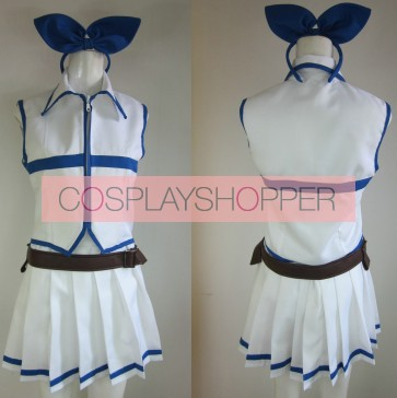 Fairy Tail Lucy Heartfilia White Cosplay Costume
