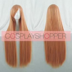 Orange 100cm Riddle Story of Devil Sumireko Hanabusa Cosplay Wig