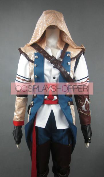 Assassin's Creed III Connor Kenway Cosplay Costume - Golden Hood Edition