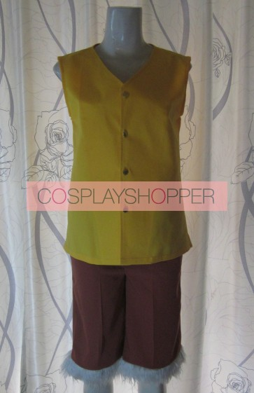 One Piece Monkey D. Luffy Yellow Cosplay Costume