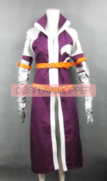 Fairy Tail Erza Scarlet Cosplay Costume (Purple Kimono Coat)