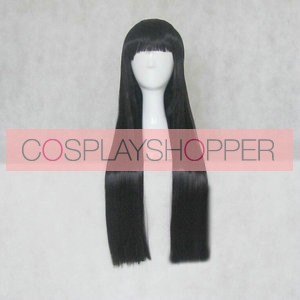 Black 80cm Hell Girl Ai Enma Cosplay Wig