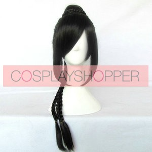Black 75cm Final Fantasy 10 FF 10  Lulu Nylon Cosplay Wig