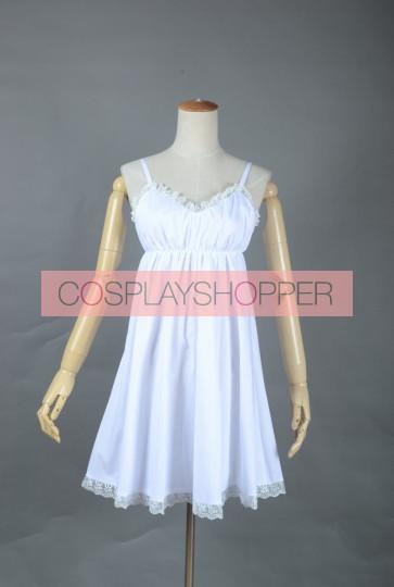 Heaven's Memo Pad Kami-sama no Memo-cho Alice White Dress Cosplay Costume