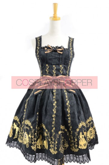 Black Velvet Bow Lace Classic Lolita Dress