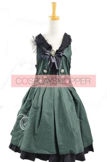 Sweet Green Stylish 100% Cotton Lolita Dress