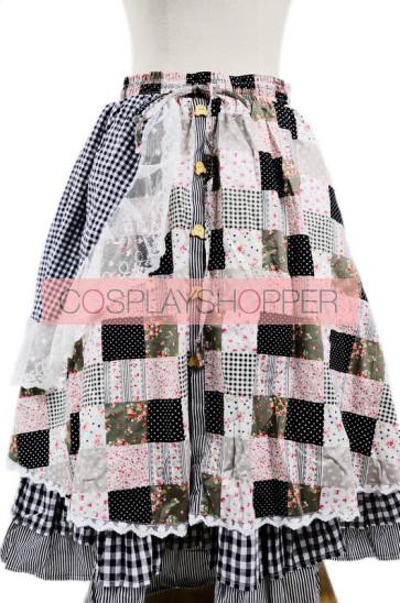 Beautiful Floral Double-Layer Terylene Lace Trim Lolita Skirt