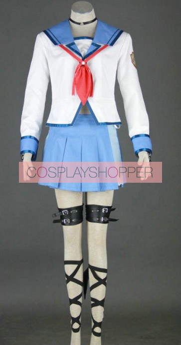Angel Beats! Yui Uniform Cosplay Costume