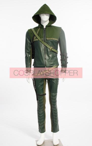 Deluxe Oliver Queen Green Arrow Cosplay Costume