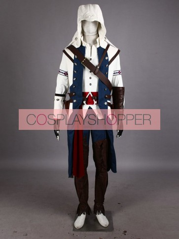 Assassin's Creed III Connor Kenway Cosplay Costume (White Edition) - Deluxe
